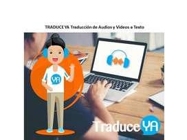 Traducción de audios y videos inglés/español