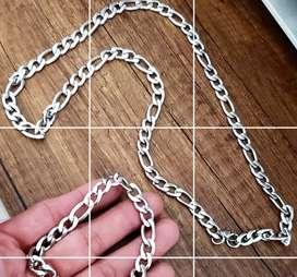Cadena pulsera en acero