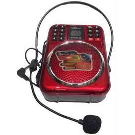 Megafono Altavoz Perifoneo Radio usb grabador de voz diadema