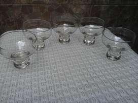 5 Cinco Copas de Vidrio para Sidra