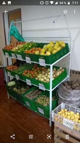 Venta de estante verdurero 12 canastillas en tubo estructural