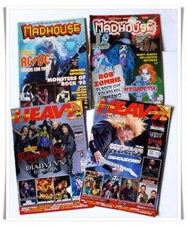 Revistas Heavy Metal 2 Madhouse + 2 La Heavy de España