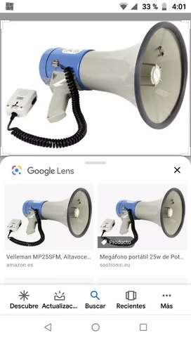 Venta de megáfono totalmente nuevo.