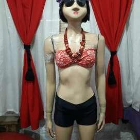 Malla bikini short y bando talle L