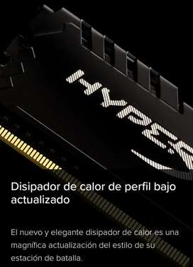 Memorias DDR4 Kingston Hyperx Fury 8 y 16GB - 2666Mhz
