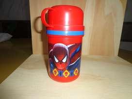 Termos plasticos marca ARGOS de Spiderman 350cc  Nuevos En Flores