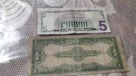 Billete de 1 dolar tipo sábana