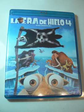 Blu Ray La Era de Hielo 4. Nuevo. Sellado. 100 Original