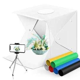 Caja de luz fotográfica led 40x40cm de 6 colores