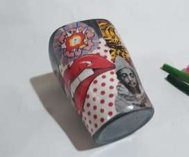Lapicero pop art, 9 cm x 7 cm