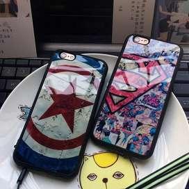 Funda Silicona American Captain Superman iPhone 5,6,7