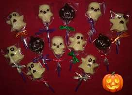 Chupetines de chocolate Halloween