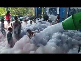 Alquiler de maquina lanza espuma, de neblina baja, cañones lanza confetis... para fiestas y eventos.