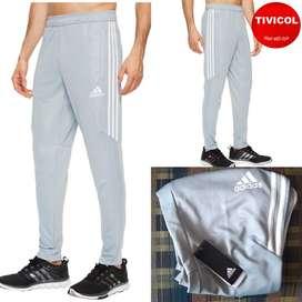 adidas Mens Tiro '17 Pants Light Grey/White/White TALLA S