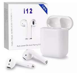 Auriculares audífonos recargable portátil inalámbricos control tactil touch bluetooth i12 tws estereo tipo airpods
