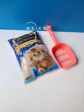 Arena para gato premium con pala para recoger