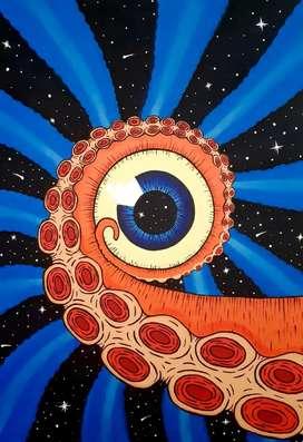 Pintura octopus.