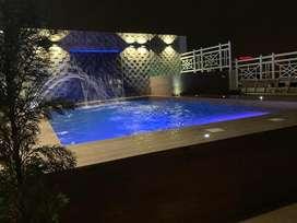 Departamento de lujo en lomas de urdesa con jacuzzi pergola piscina 4 dormitorios con closet sh, estudio, dorm serv lav