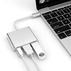 CONVERTIDOR DETIPO C A HDMI 4K-USB 3.1- TIPO C