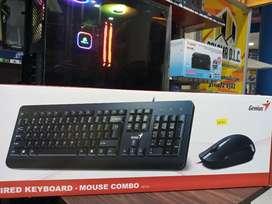 Combo teclado y mouse nuevo alambrico