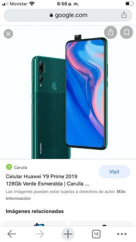 Se vende celular Huawei prime color verde esmeralda