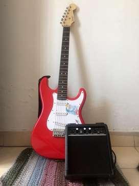 Guitarra electrica Fender y amplificafor