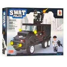 Camion Policia Armatodo Compatible Lego 324 Pcs Swat Police 0