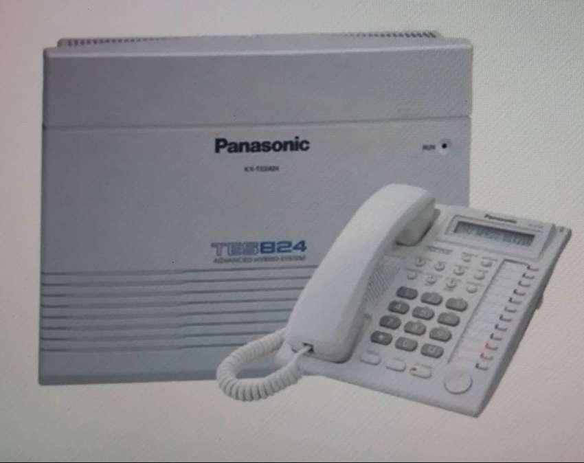 planta telefonica  panasonic KX TES 824 + TELÉFONO