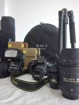 Cámara Nikon D5600 +lente 18-55