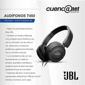 Audífonos T450 Jbl con Cable Negros
