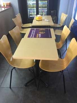 Vendo 5 Mesas y 10 sillas para restaurantes