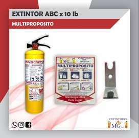 EXTINTOR ABC MULTIPROPOSITO X 10 LIBRAS