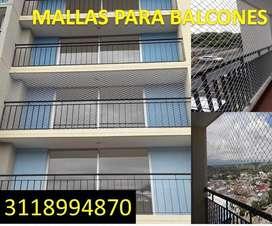 mallas para balcones