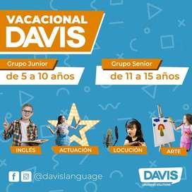 Vacacional de Inglés, Arte, Locución y Actuación