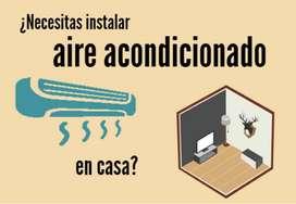 aire acondicionado instalacion de split con kit de instalacion completo