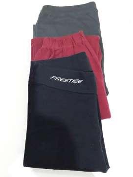 Calzas de mujer talle S/M pack x 3 Negro, ciruela y gris plomo
