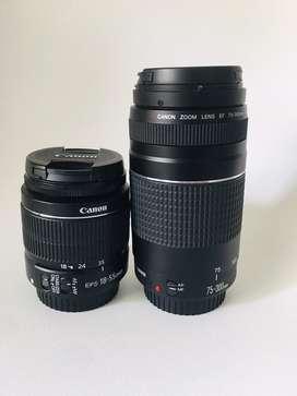 Lente 75 - 300 mm y 18 - 55 mm GANGA