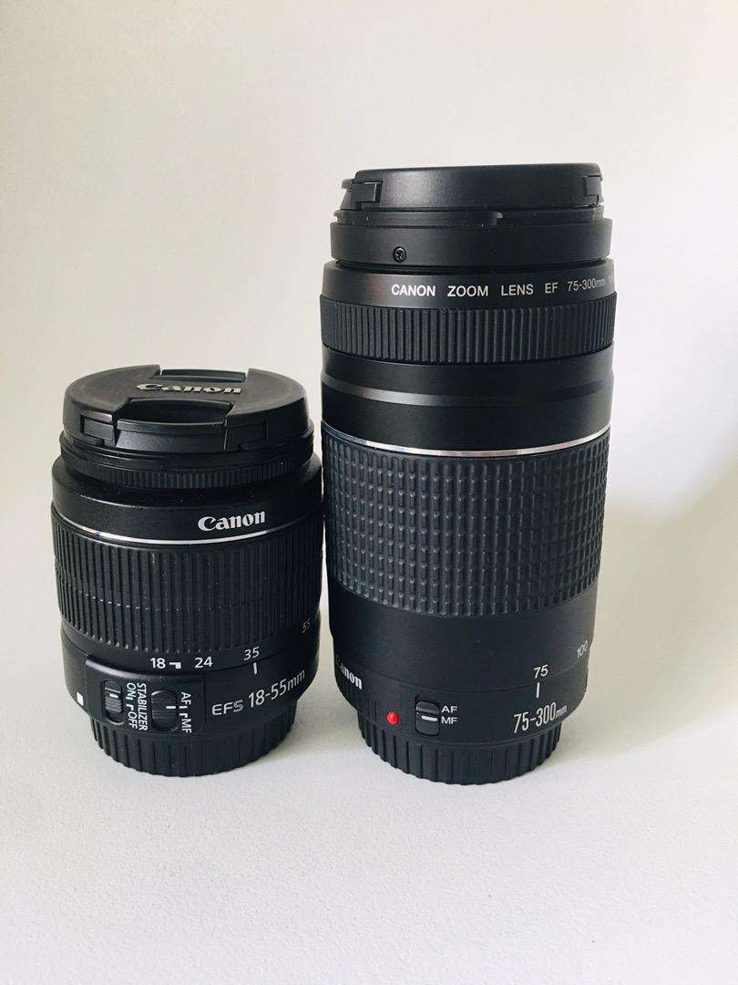 Lente 75 - 300 mm y 18 - 55 mm GANGA 0