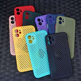 ESPECTACULAR Case IPHONE Silicona Transpirable Colores