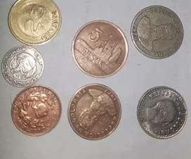 Monedas antiguas del 1953 al 81 negociables