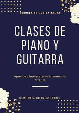 CLASES DE PIANO Y GUITARRA TODAS LAS EDADES