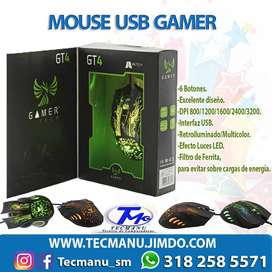 Mouse Gamer RGB GT4
