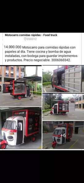 Food truck motocarro comidas rapida