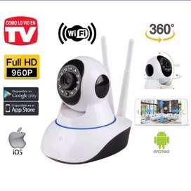 Cámara de seguridad wifi 360 visión nocturna; robótica