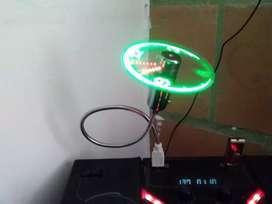 Vendo reloj led ventilador usb para carro o pc cambio x celular