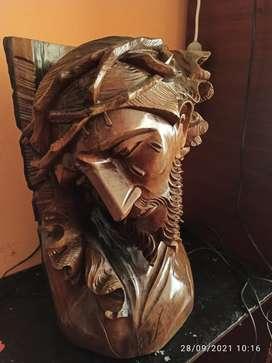 Cabeza de JESUS tallada a mano