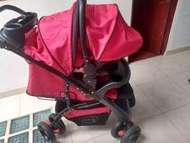 Coche con silla portable