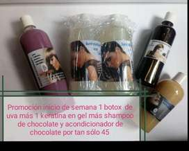 Keratinas, Botox, Shampoo