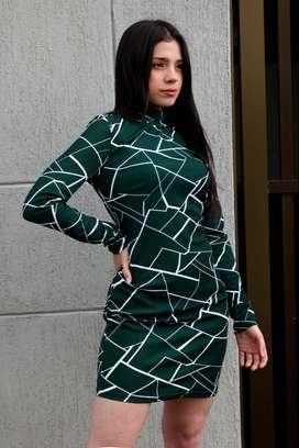 vestido verde para mujer