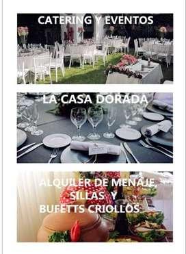 ALQUILER DE SILLAS Y MENAJE COMPLETO EN CHORRILLOS
